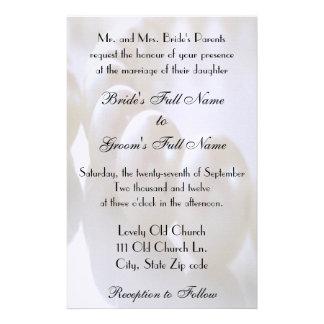 Klassische Perlen-Halsketten-Hochzeits-Einladung Briefpapier