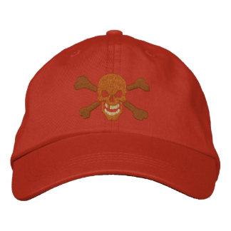Klassische Piraten-Knochen-Schädel-Stickerei Besticktes Baseballcap