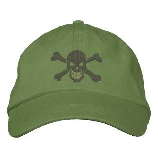 Klassische Piraten-Knochen-Schädel-Stickerei Baseballcap