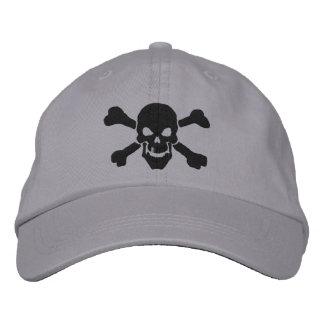 Klassische Piraten-Knochen-Schädel-Stickerei Bestickte Mützen