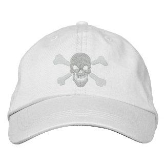 Klassische Piraten-Knochen-Schädel-Stickerei Bestickte Caps