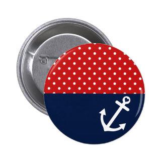 Klassische Polka-Punkt-SeeLiebe Buttons