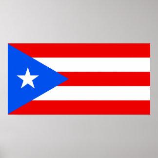 Klassische puertorikanische Flagge Poster