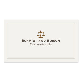 Klassische Rechtsanwalts-Visitenkarte