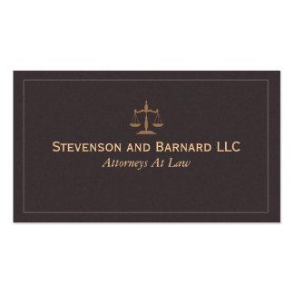 Klassische Rechtsanwalts-Visitenkarte Visitenkarten
