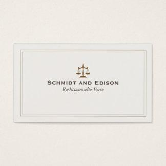 Klassische Rechtsanwalts-Visitenkarte Visitenkarte