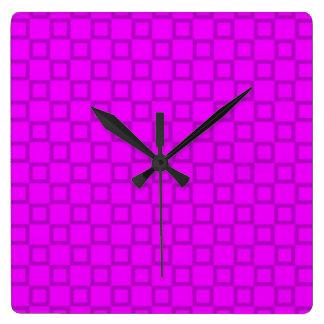 Klassische rosa und lila Wand-Uhr Quadratische Wanduhr