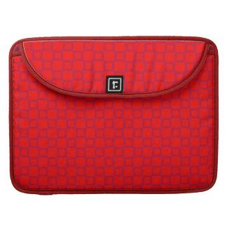 Klassische rote lila Rickshaw-Klappen-Hülse Sleeve Für MacBook Pro