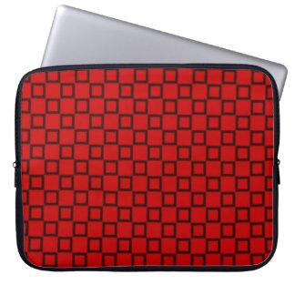 Klassische rote schwarze Laptop-Hülse Laptop Sleeve
