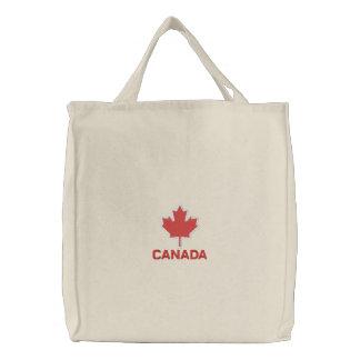 Klassische roter Ahorn-Blatt-Taschen-Tasche Bestickte Tasche