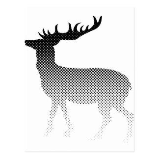 Klassische Rotwild-Silhouette Postkarten