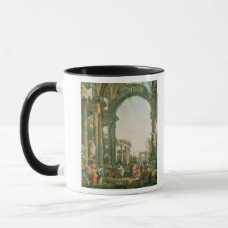 Klassische Ruinen, 18. Jahrhundert Tasse