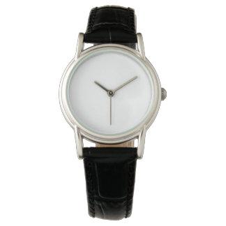 Klassische schwarze der Lederband-Uhr der Frauen Armbanduhr
