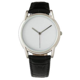 Klassische schwarze der Lederband-Uhr der Männer Uhren