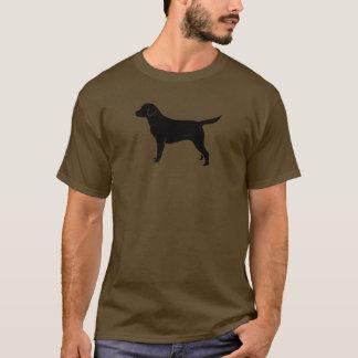 Klassische schwarze Labrador-Retriever-Silhouette T-Shirt