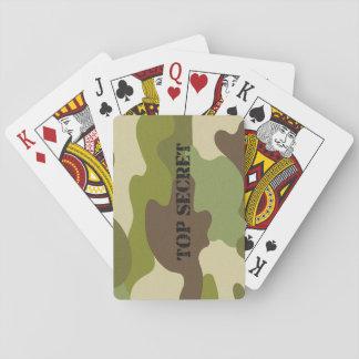 Klassische Spielkartetarnung streng geheim Spielkarten