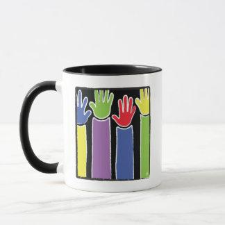 Klassische Tasse des weißen Kaffees des Lehrers
