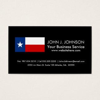 Klassische Texas-Staats-Flagge Visitenkarte