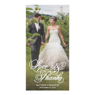 Klassische Überlagerung Wedding | danken Ihnen Foto Karte