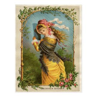 Klassische viktorianische Radierung - Postkarten
