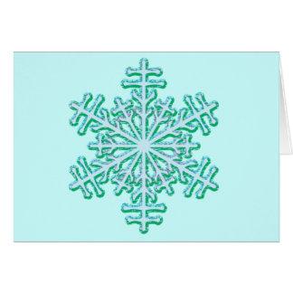 Klassische Weihnachtswinter-Schneeflocke Karte