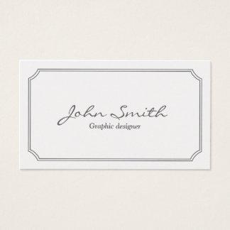 Klassische weiße Rahmen-Grafikdesign-Visitenkarte Visitenkarte