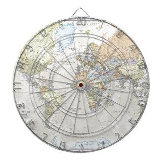 Klassische Weltkarte Dart-scheibe