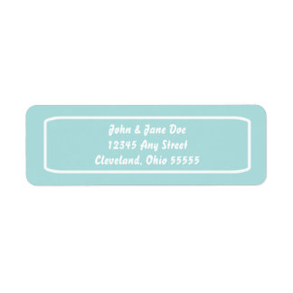 Klassischer Adresse Avery Aufkleber (Tiffany) Rücksende Aufkleber