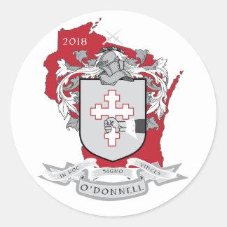 Klassischer Aufkleber O'Donnells im Rot