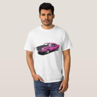 Klassischer Auto-T - Shirt des magentaroten heißes