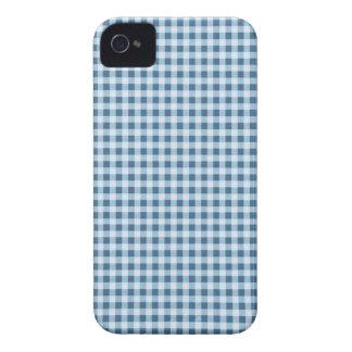 Klassischer blauer Picknick-Gingham iPhone 4 Hülle