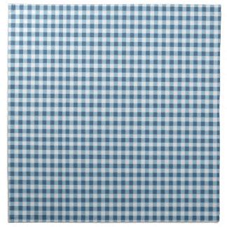 Klassischer blauer Picknick-Gingham Serviette