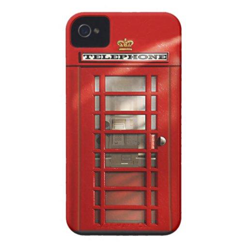 Klassischer britischer roter Telefonzelle iPhone 4 iPhone 4 Hülle