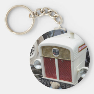 Klassischer britischer Traktor Schlüsselanhänger