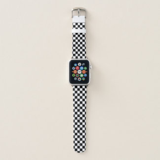 Klassischer Checkered laufender Sport-Karo Apple Watch Armband