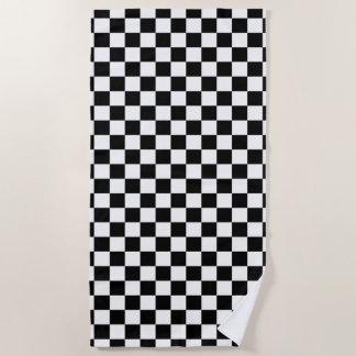 Klassischer Checkered laufender Sport-Karo Strandtuch