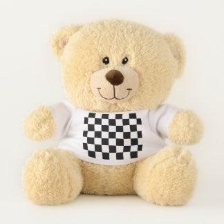 Klassischer Checkered laufender Sport-Karo Teddybär