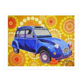 Klassischer Citroen 2cv Postkarte