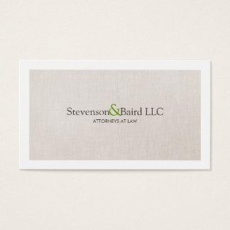 Klassischer Gesetzespraxis-Rechtsanwalt beruflich Visitenkarten