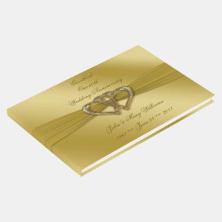 Klassischer goldener 50. HochzeitstagGuestbook Gäste Buch
