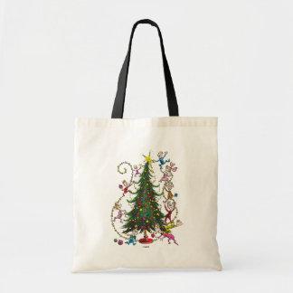 Klassischer Grinch   Weihnachtsbaum Tragetasche