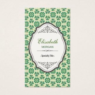 Klassischer grüner glücklicher Klee - eleganter Visitenkarte