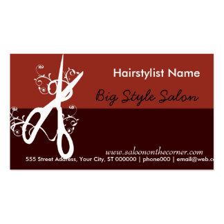 Klassischer Haar-Stylist-Salon - Wellness-Center Visitenkarten