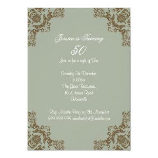 Klassischer Kunst-Deko 11,4 X 15,9 Cm Einladungskarte