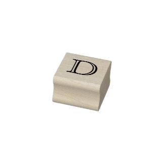 Klassischer Monogramm-Buchstabe D 1 Gummistempel
