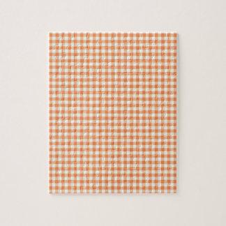 Klassischer orange Picknick-Gingham Puzzle