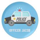 Klassischer Polizeiwagen mit Sirene für Jungen Teller