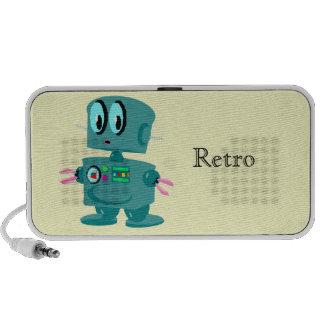 Klassischer Retro grüner Roboter Tragbare Speaker