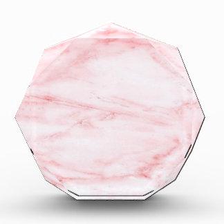 Klassischer rosa Marmor Acryl Auszeichnung