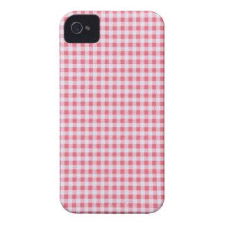 Klassischer rosa Picknick-Gingham iPhone 4 Cover